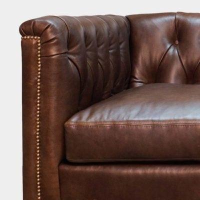 Neil Diamond-Tufted Mid-Century Chesterfield Armchair