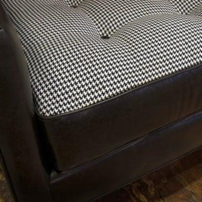Redding Mid-Century Leather & Fabric Secitonal