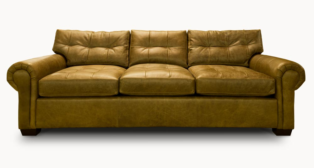 Roosevelt with blind tufting in Seville Willow leather