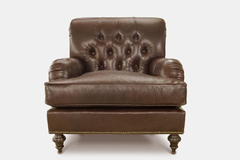 Tufted English Arm Leather Chair