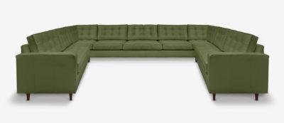 Custom U-Shaped Midcentury Sectional Sofa