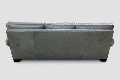 Back Of Roosevelt Lawson Leather Sofa In Echo Limestone