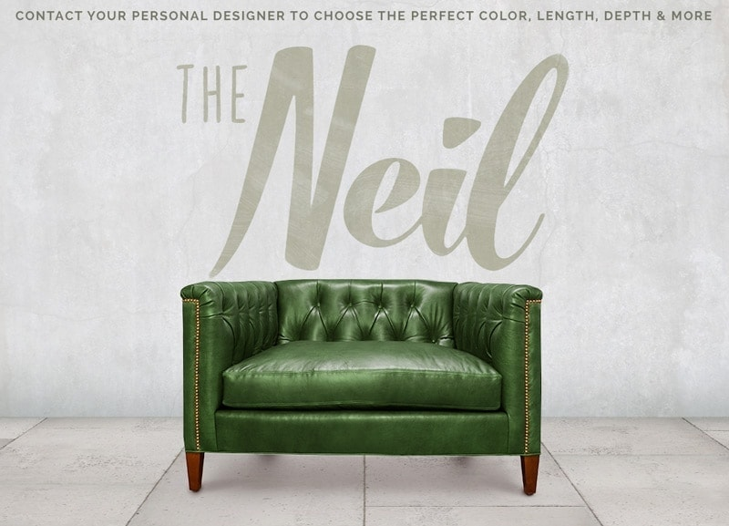 Neil Diamond Tufted Mid-Century Chair