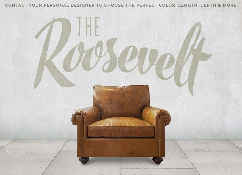 Roosevelt Roll Arm Lawson Chair
