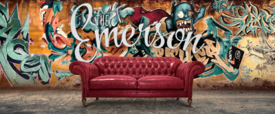 The Emerson: Splayed Arm Hand-Tufted Chesterfield