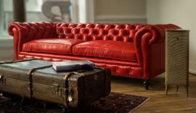Hemingway Custom Leather Chesterfield Sofa