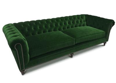 Fitzgerald Chesterfield Sofa In Emerald Green Velvet