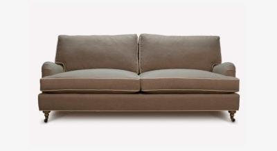 Hitchcock Grey English Arm Sofa
