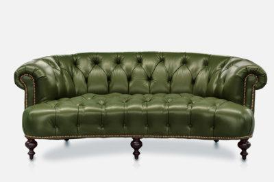 Truman Love Seat In Lichen Leather