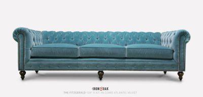 Fitzgerald Light Blue Chesterfield Sofa In Como Atlantic