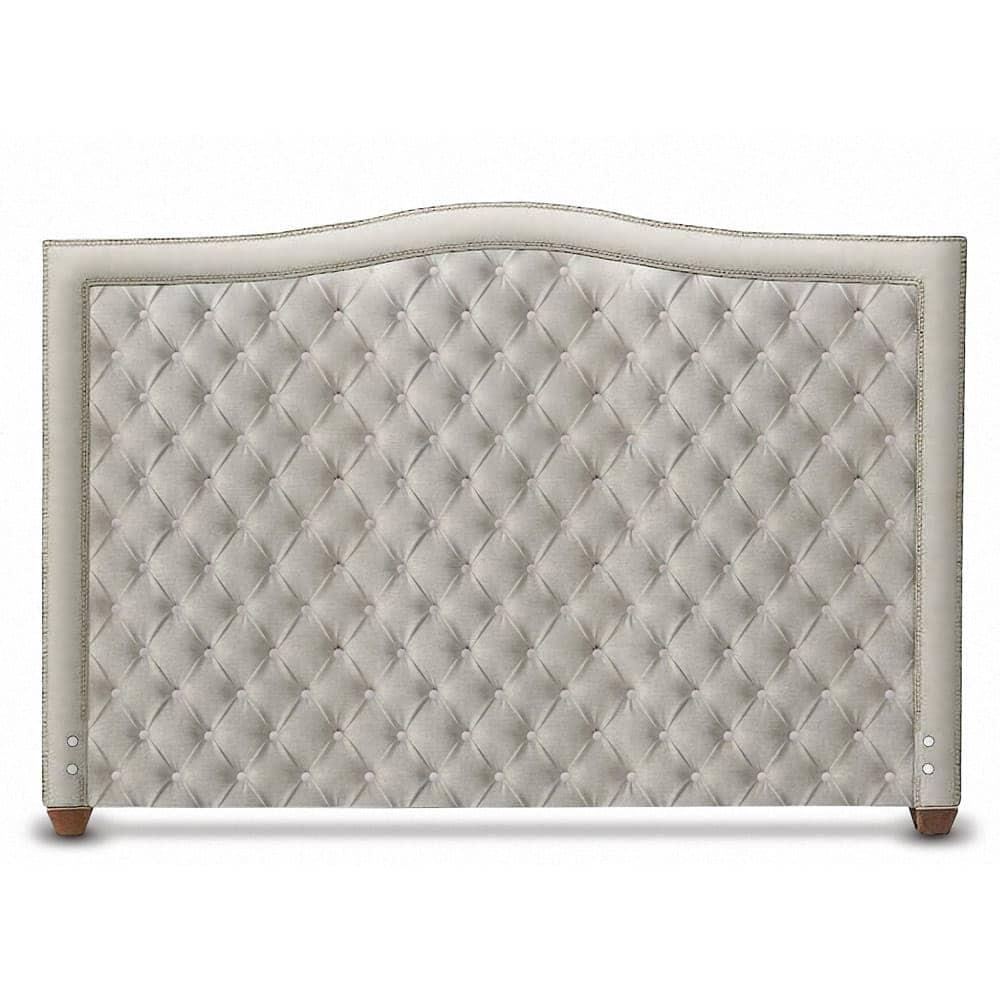 Glenview White Tufted Linen Headboard