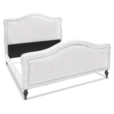 Rosecliff White Leather Classic Bed Frame