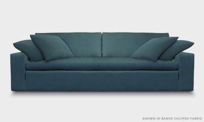 Of Iron And Oak McCloud Cloud Sofa In Banks Calypso Fabric