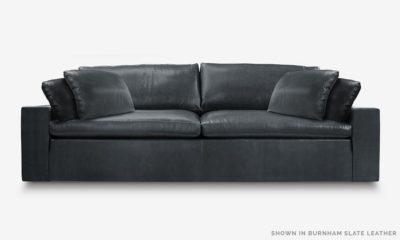 Of Iron And Oak McCloud Cloud Sofa In Burnham Slate Leather