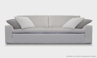Of Iron And Oak McCloud Cloud Sofa In Como Sharkskin Fabric