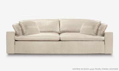 Of Iron And Oak McCloud Cloud Sofa In Nash 425 Pearl Leather