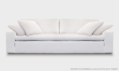 Of Iron And Oak McCloud Cloud Sofa In Sunbrella Sailcloth Salt Fabric
