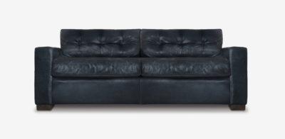 Brando Track Arm Sofa In Black Leather