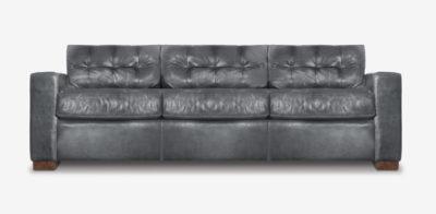 Brando Track Arm Sofa In Grey Leather