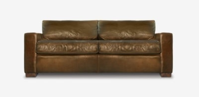McQueen Brown Leather Sofa
