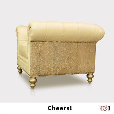Custom Leather Chesterfield Armchair