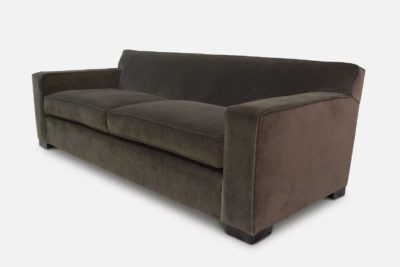 Tight Back McQueen Sofa In Dark Grey Velvet