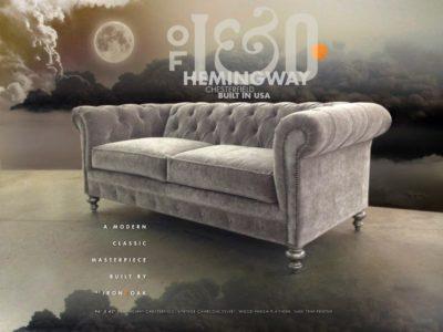 Hemingway Chesterfield Sofa In Vintage Charcoal Velvet