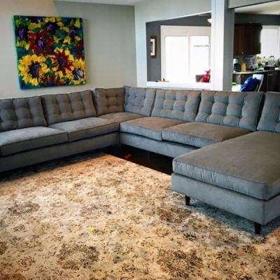 Redding Mid-Century Sectional With Chaise
