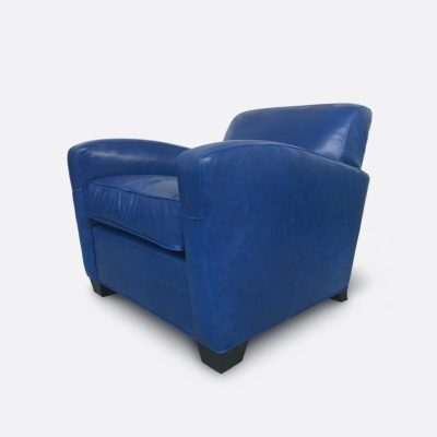 Lindy Art Deco Armchair In Mont Blanc Baltic Leather