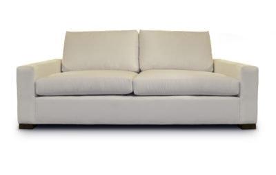 McQueen Love Seat In Light Beige Fabric
