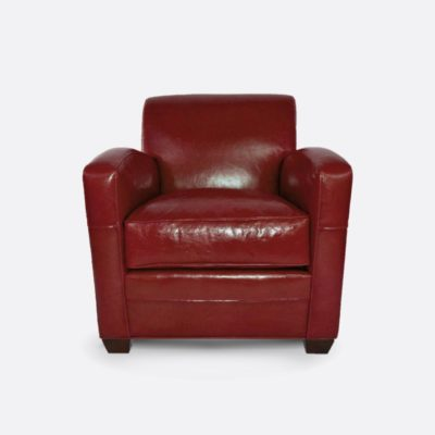 Lindy Art Deco Armchair In Absolute Tamarillo Leather