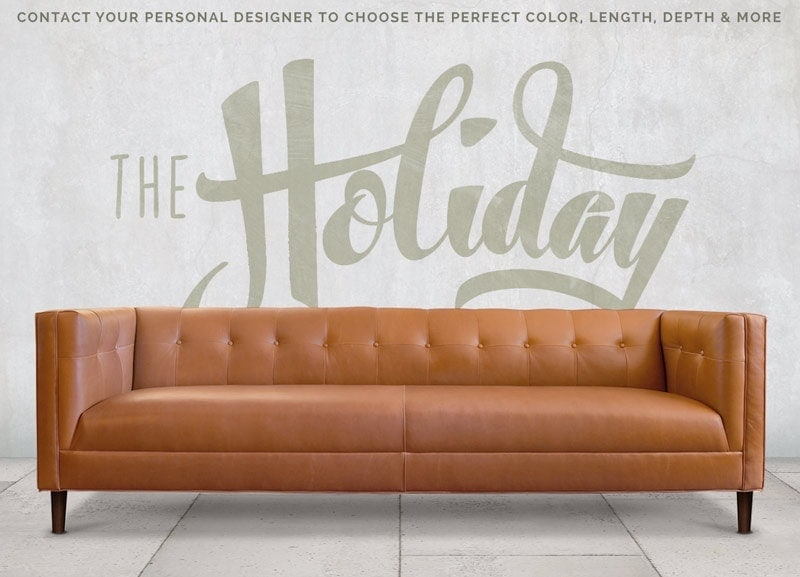 The Holiday: A Tailored Mid-Century Button Tufted Sofa