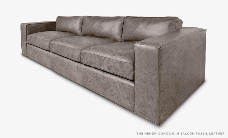 Hendrix Sofa Saloon Fossil Leather