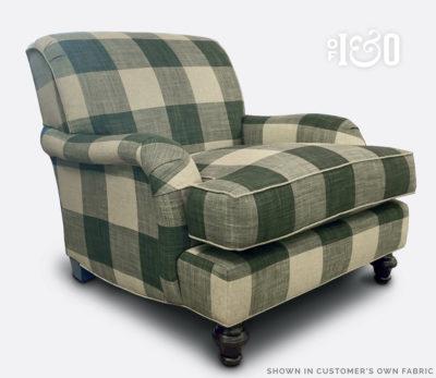 Kubrick Buffalo Plaid English Arm Chair
