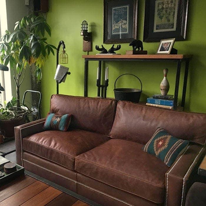 The Heston: a Petite Track Arm Sofa in a California High Rise
