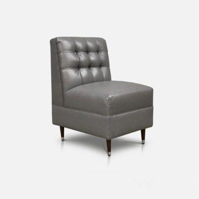 Tufted Leather Lobby Chair