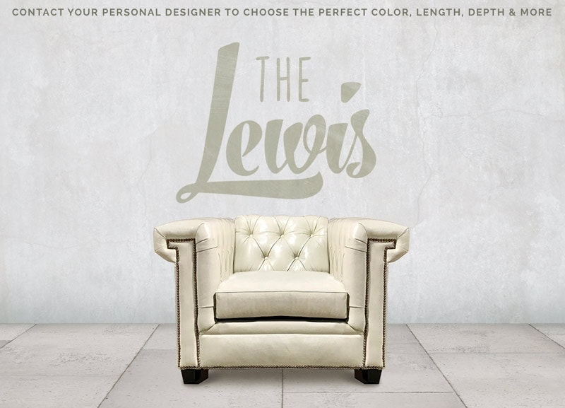 The Lewis: A Modern Chesterfield Chair In Mont Blanc Ivory Leather