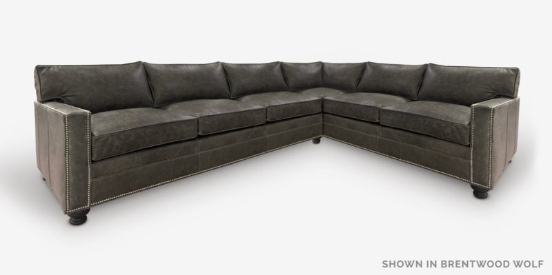 Heston Sectional In Brentwood Wolf Leather