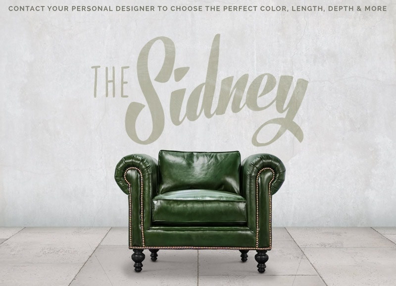 The Sidney Forest Green Pillow-Back Chesterfield Chair
