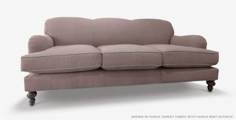 Kubrick Gray Fabric English Arm Sofa