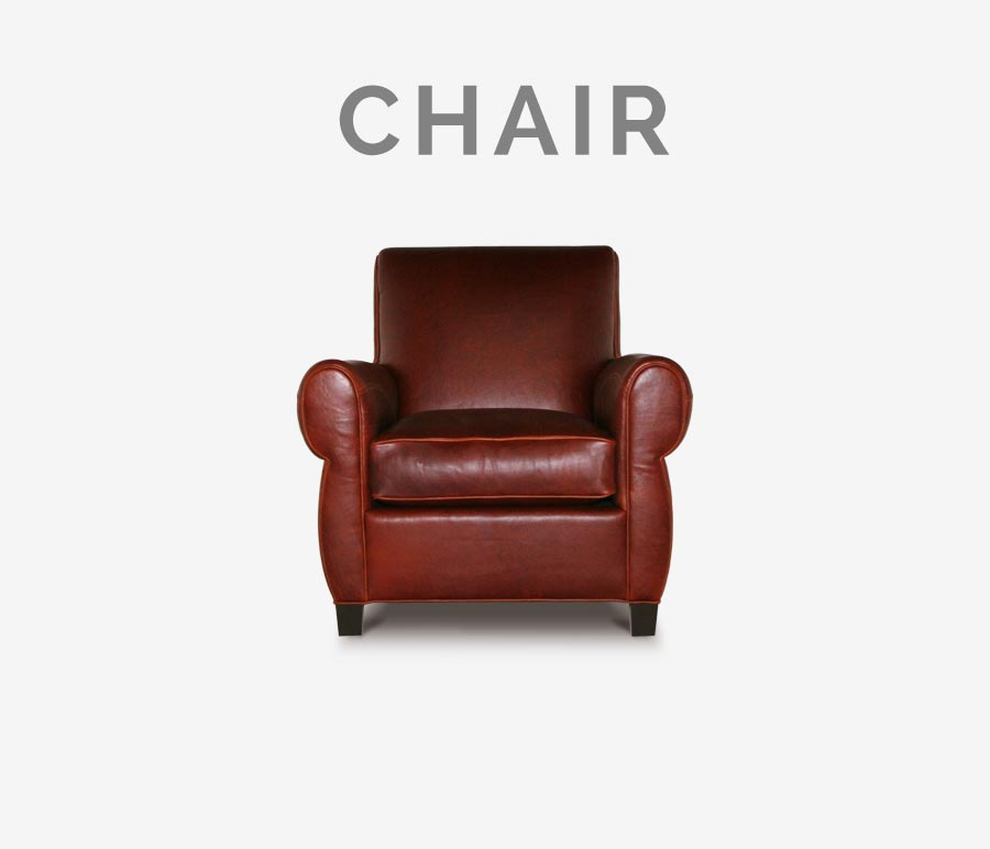 Armstrong Brown Leather Parisian Club Chair