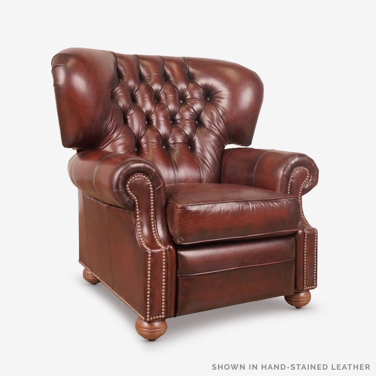 Benjamin Recliner In Hand-Stained Leather