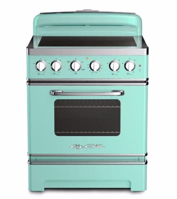 Big Chill Retro Induction Range In Turquoise