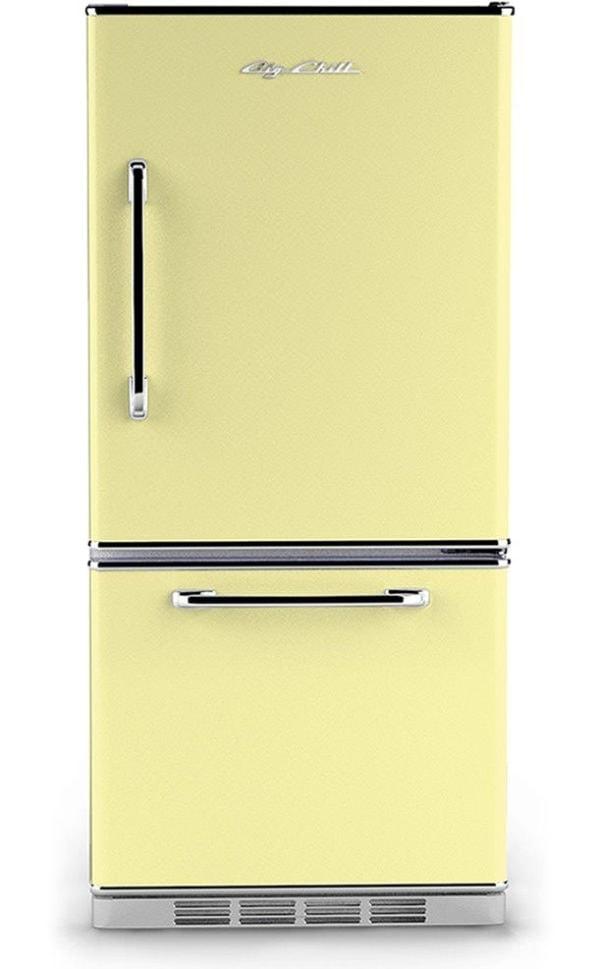 Big Chill Retro Yellow Refrigerator