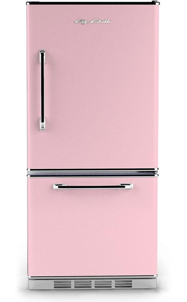 Big Chill Retro Pink Refrigerator