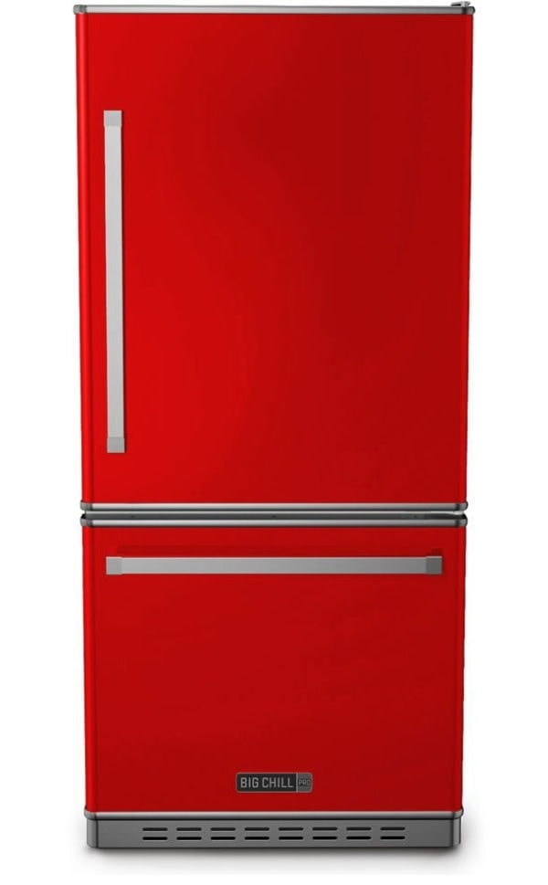 Big Chill Classic Fire Engine Red Refrigerator