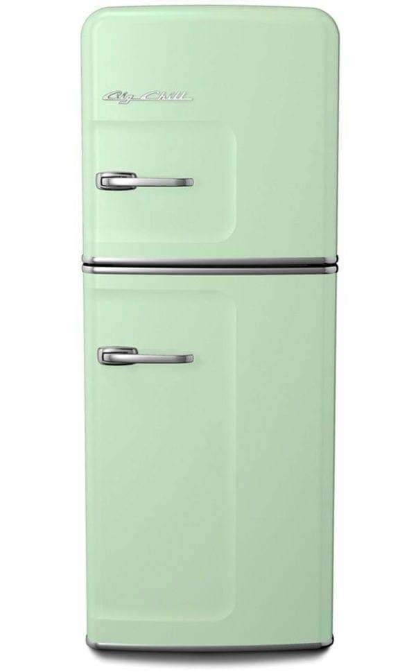 Big Chill Retro Mint Green Slim Refrigerator