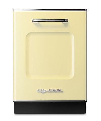 Big Chill Retro Dishwasher In Buttercup Yellow