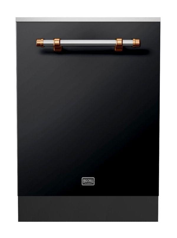 Big Chill Classic Matte Black Dishwasher With Copper