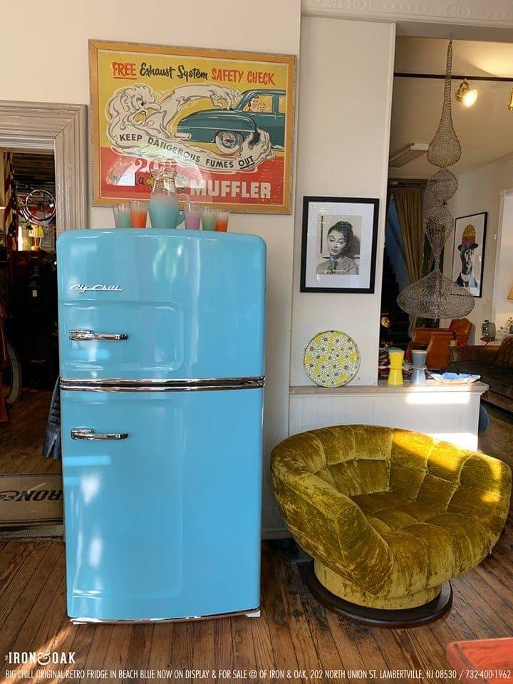 Big Chill Retro Blue Refrigerator